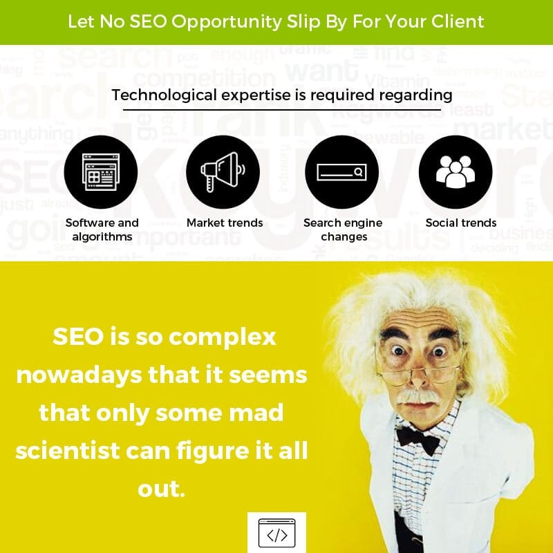 Let No SEO Opportunity Slip By For Your Client